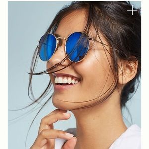 Anthropologie Melody Blue Aviator Sunglasses